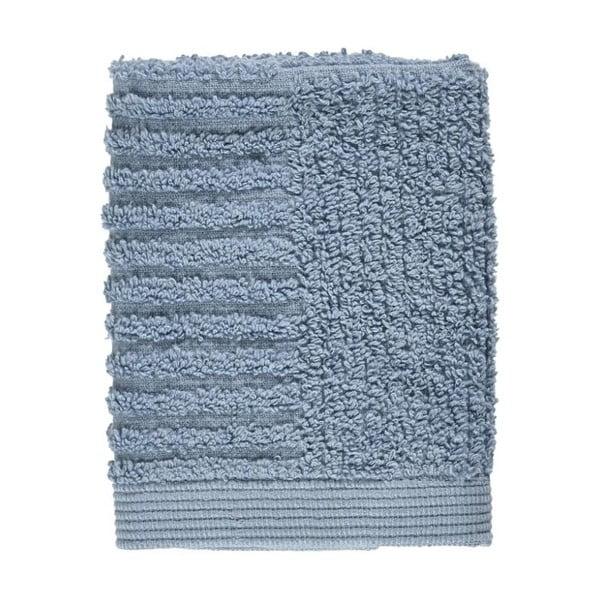 Modrý uterák zo 100% bavlny na tvár Zone Classic Blue Fog, 30×30 cm