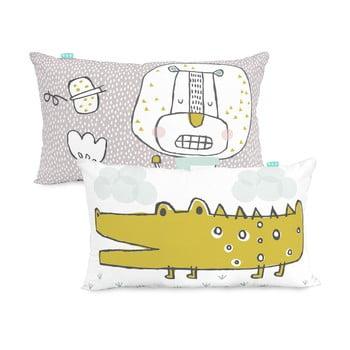 Față de pernă din bumbac, reversibilă Moshi Moshi Best Budies, 50 x 30 cm poza
