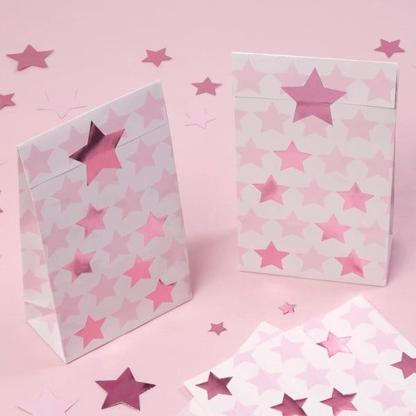 Sada 5 papírových pytlíčků Neviti Little Star Pink