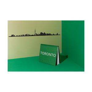 Černá nástěnná dekorace se siluetou města The Line Toronto XL