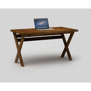 Tmavě hnědý psací stůl Only Wood Desk X
