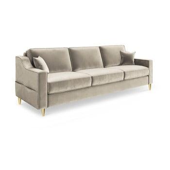 Canapea extensibilă cu 3 locuri Mazzini Sofas Marigold, bej de la Mazzini Sofas