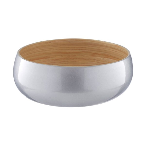 Miska bambusowa w srebrnym kolorze Premier Housewares, ⌀ 25 cm