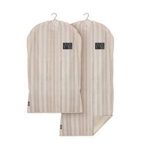 Sada 2 obalů na oblečení Domopak Stripes