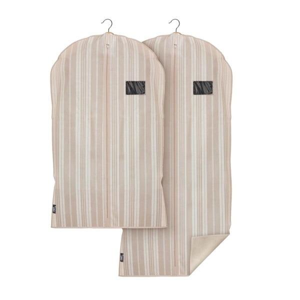 Zestaw 2 pokrowców na ubrania Domopak Stripes
