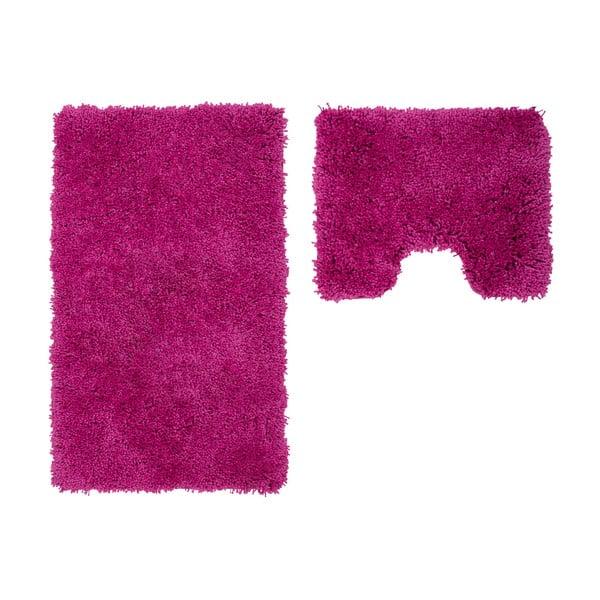 Sada 2 koupelnových předložek s výkrojem Citylights Purple