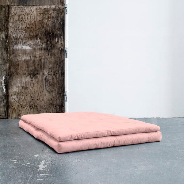 Variabilní pohovka s koženými pásky Karup Buckle Up Pink Peonie