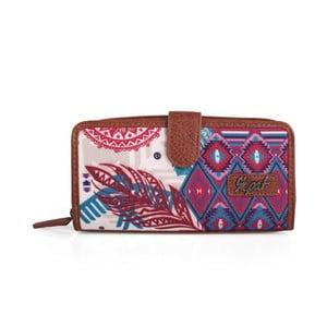 Růžovo-modrá peněženka SKPA-T, 18 x 9 cm