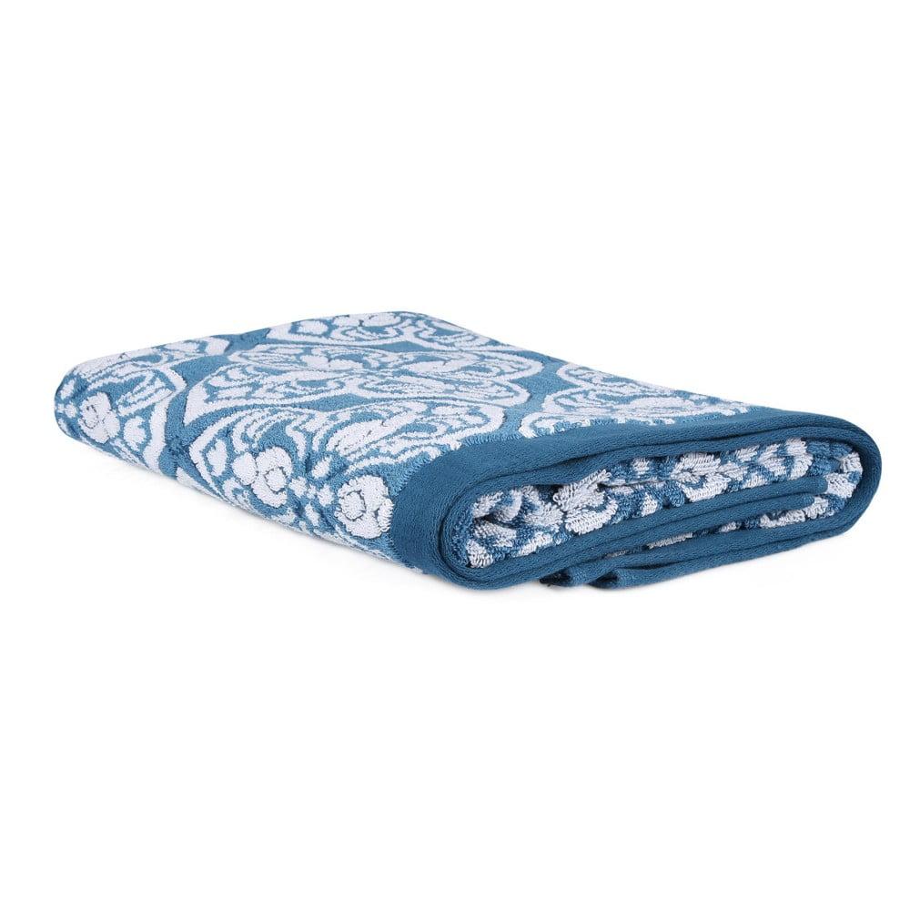 Modro-bílá osuška Monica, 75 x 135 cm