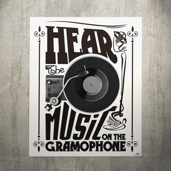 Cedule Gramophone, 56x45 cm