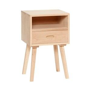 Odkládací stolek z dubového dřeva se zásuvkou Hübsch Federikke