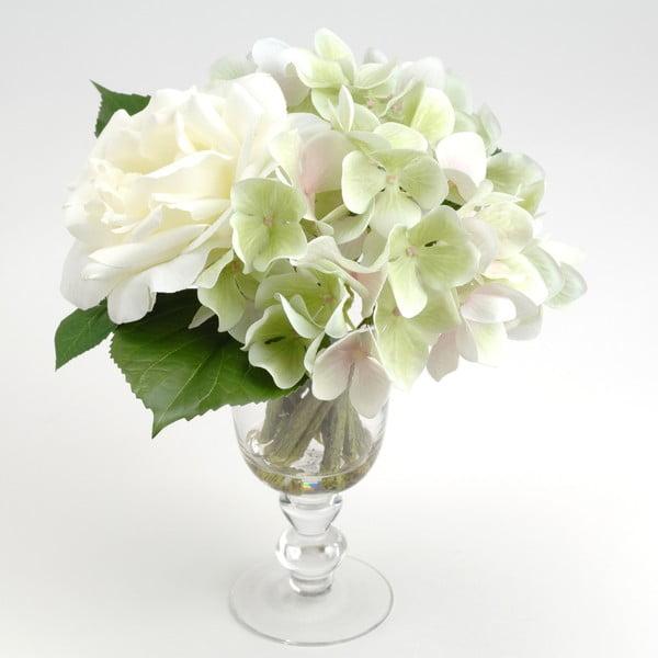 Umělé květiny ve váze Milva White