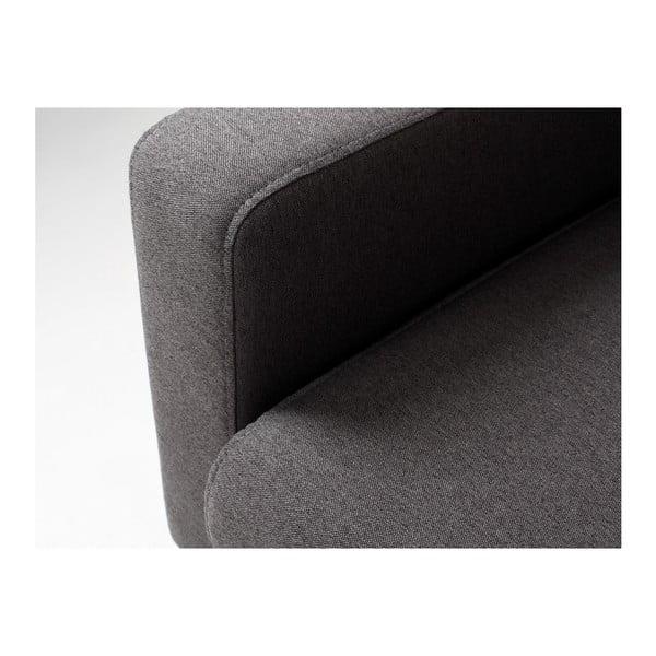 Antracitově šedá rozkládací třímístná pohovka Custom Form Scandic