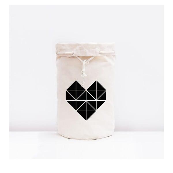 Úložná plátěná taška Origami Herz