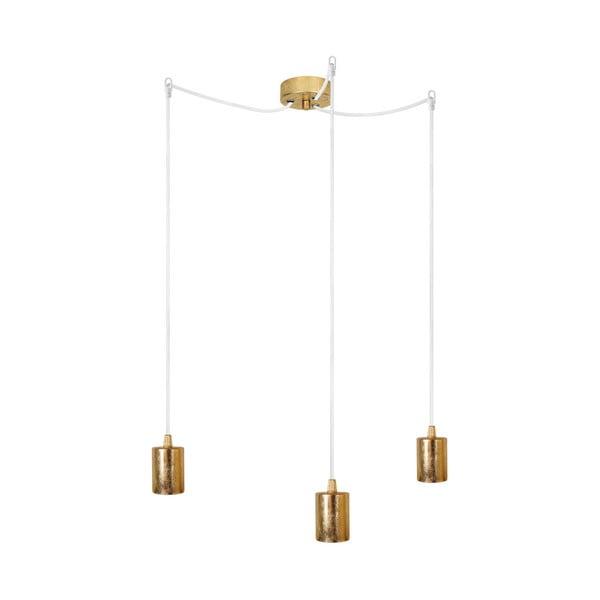 Tři závěsné kabely Bulb Attack Cero, zlatá/bílá/zlatá
