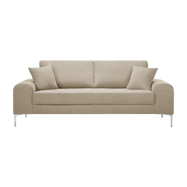 Set canapea gri cu 3 locuri, 4 scaune crem o saltea 160 x 200 cm Home Essentials