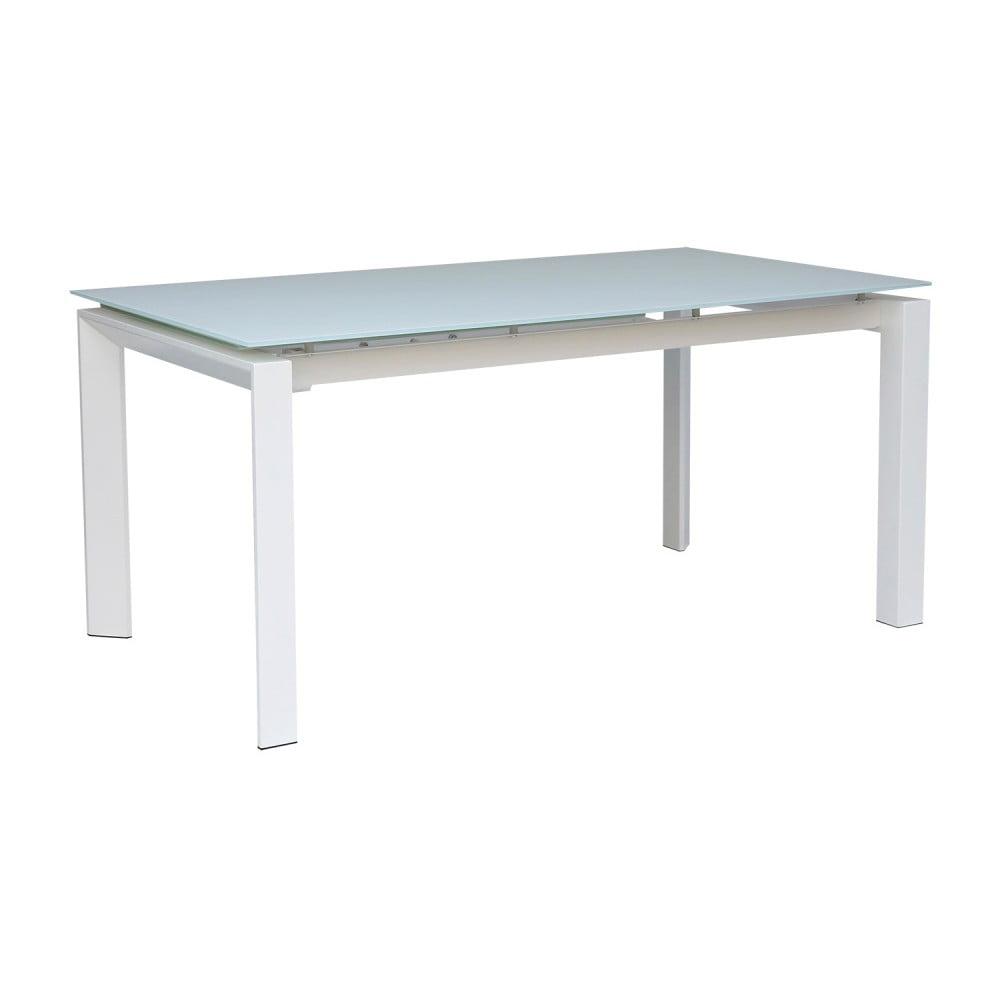 Bílý rozkládací jídelní stůl sømcasa Selena, 160x90cm