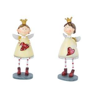 Set 2 vánočních dekorací ve tvaru andělů Ego Dekor