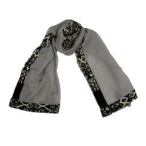 Vlněný šátek Shirin Sehan Ivy Fog