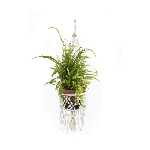 Závěsný držák na květináč Macrame Blanco, 30 cm