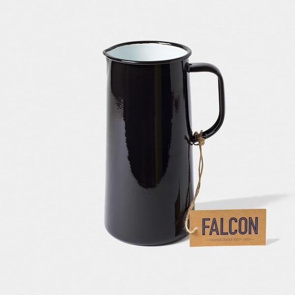 Černý smaltovaný džbán Falcon Enamelware TriplePint, 1,704 l