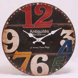 Dřevěné hodiny 57 Avenue Victor Hugo, 34x34 cm