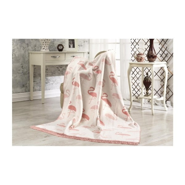 Bavlněná deka Aksu Flamingo,152x127cm