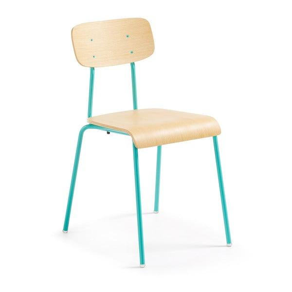 Sada 4 židlí s tyrkysovou konstrukcí La Forma Klee
