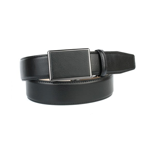 Unisex kožený pásek 39T10S Black, 120 cm
