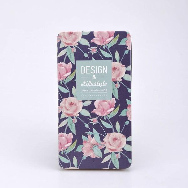 Plechový zápisník Garden, modrý