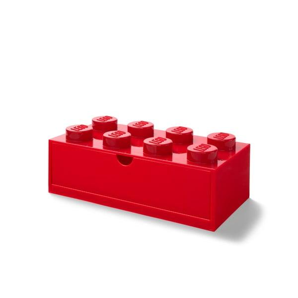 Cutie cu sertar pentru birou LEGO®, 31 x 16 cm, roșu