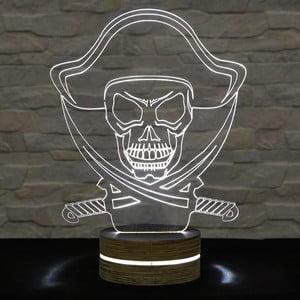 3D stolní lampa Pirate
