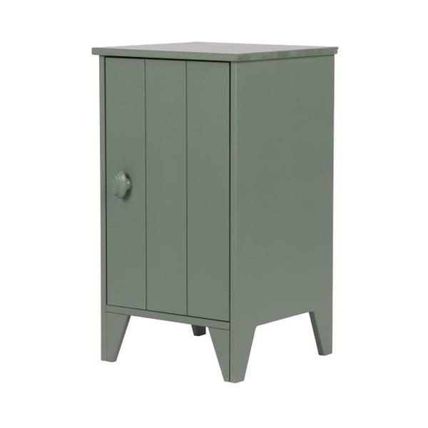 Zelený dřevěný noční stolek De Eekhoorn Nikki