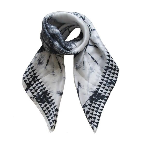 Hedvábný šátek Lali White, 130x130 cm