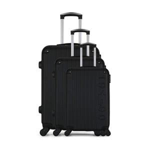Sada 3 černých cestovních kufrů na kolečkách GENTLEMAN FARMER Cadenas Integre