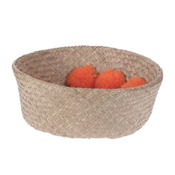 Pletený košík InArt Orange Pom Pom