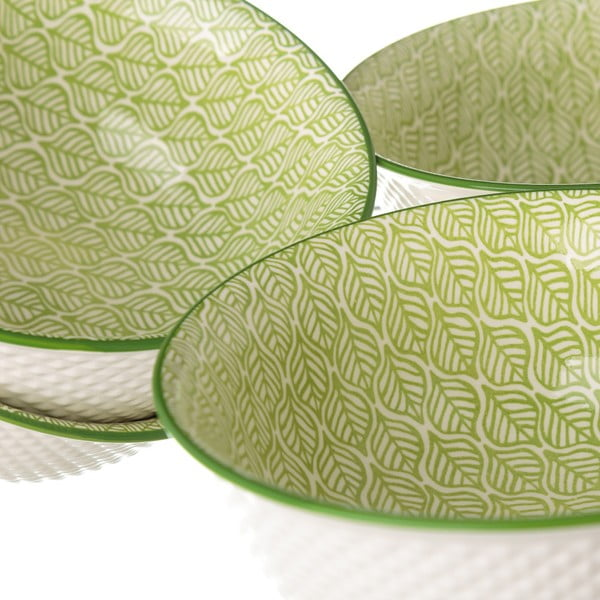 Zelenobílá porcelánová miska Unimasa Leaf