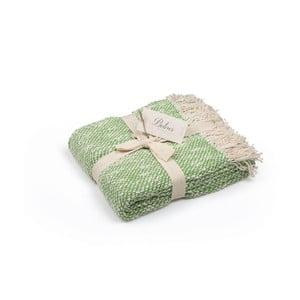 Zelený přehoz z bavlny, 130 x 170 cm