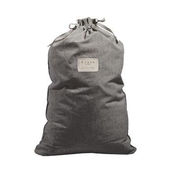 Săculeț textil pentru haine Linen Couture Bag Cool Grey, înălțime 75 cm imagine