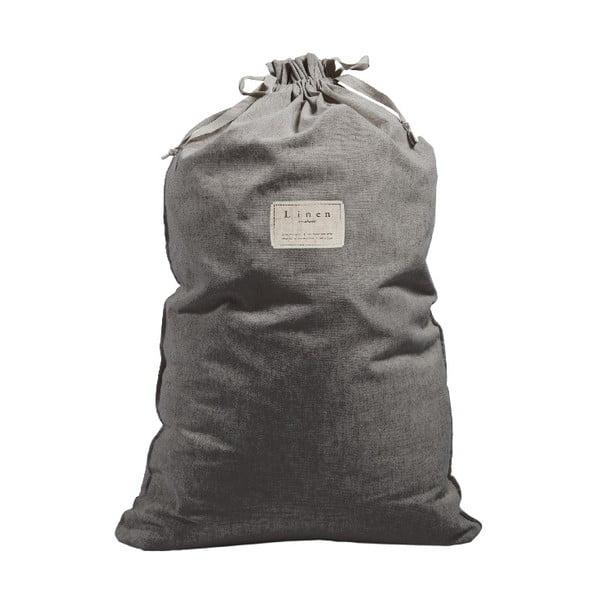 Bag Cool Grey szövet és lenkeverék szennyestartó zsák, magasság 75 cm - Linen Couture