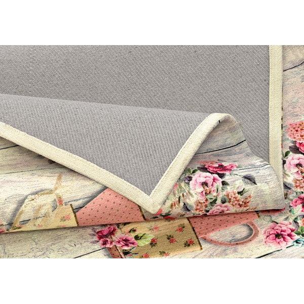 Vysoce odolný kuchyňský koberec Webtappeti French Garden,60x115cm