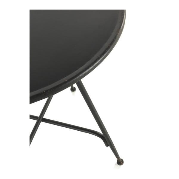 Masă de bar din metal Geese Industrial Style, înălțime 75 cm, negru