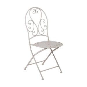 Bílá kovová skládací židle Crido Consulting Snow