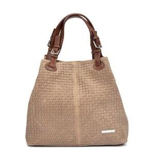 Krémová kožená kabelka Isabella Rhea Simona