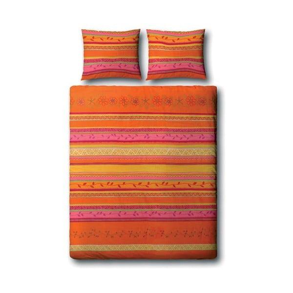 Povlečení s polštářem Varanasi Orange 140x200 cm