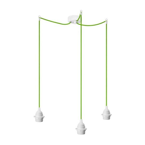 Tři závěsné kabely Uno+, bílá/zelená/bílá