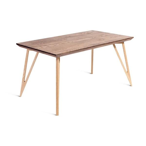 Jídelní stůl z masivního jasanového dřeva Charlie Pommier Triangle, 160x80cm