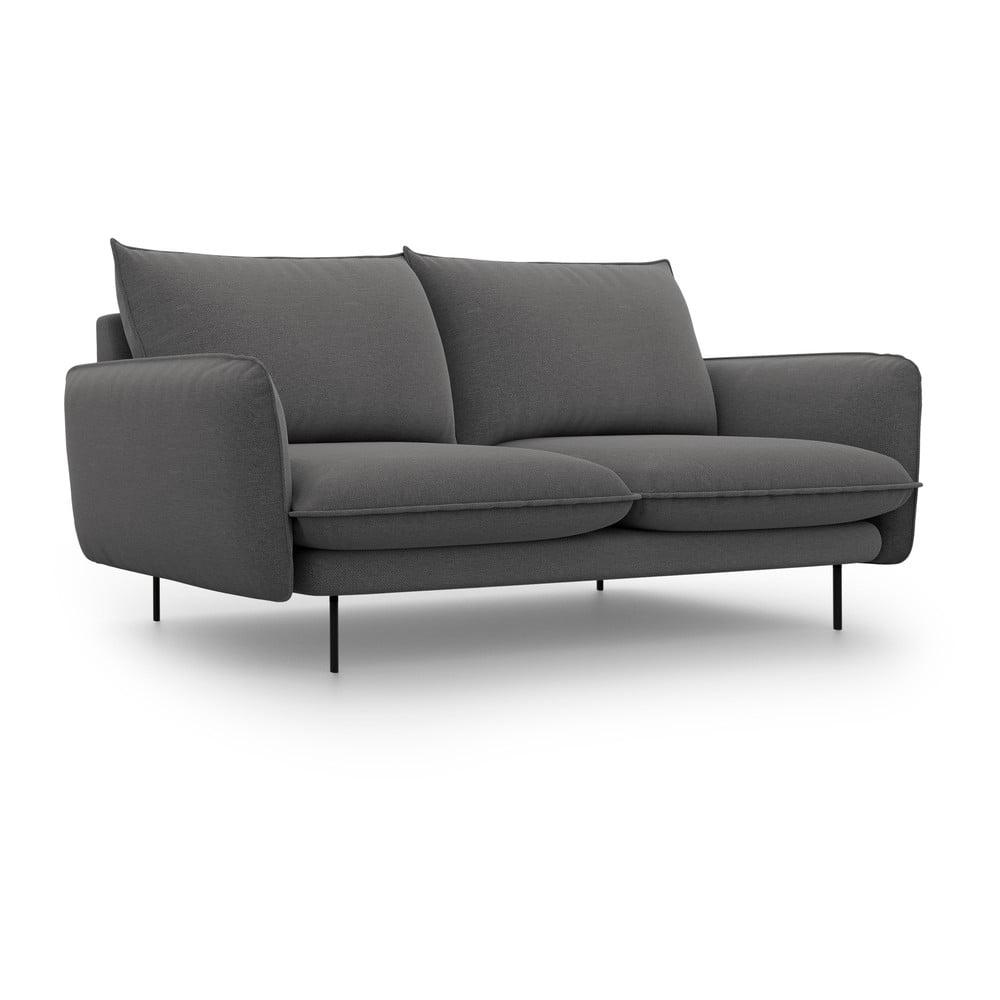 Tmavě šedá pohovka Cosmopolitan Design Vienna, šířka 160 cm