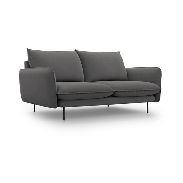 Tmavě šedá pohovka Cosmopolitan Design Vienna,šířka160 cm