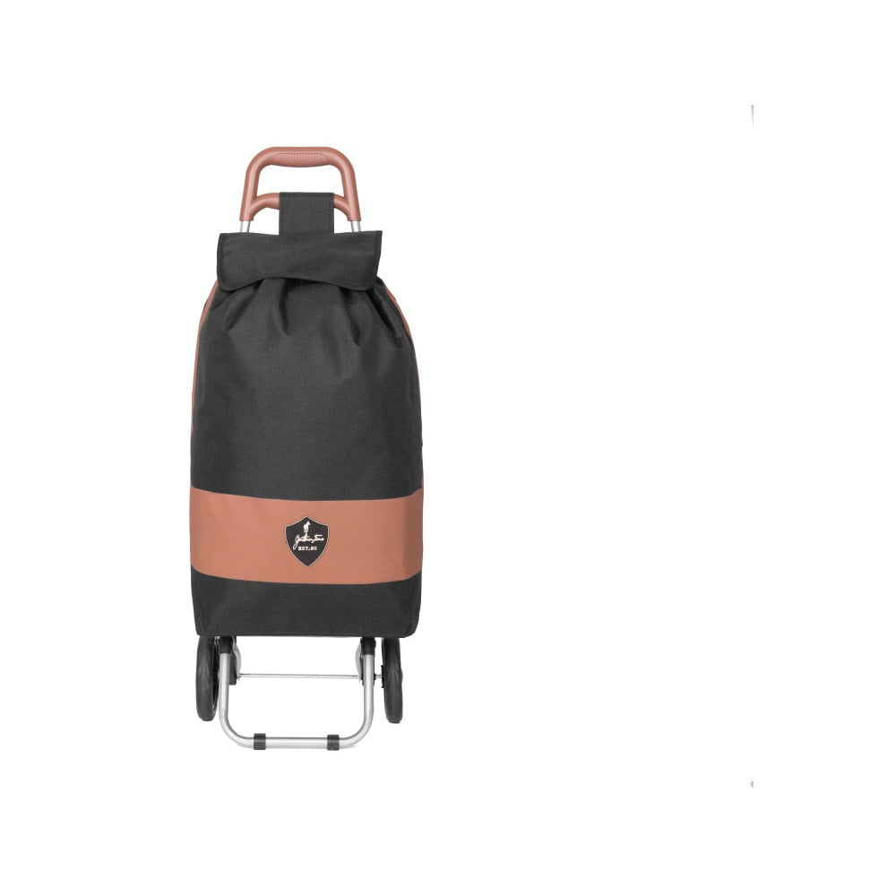 Černá nákupní taška na kolečkách INFINITIF Chariot de Marché